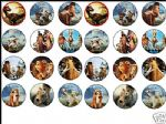 24 x ICE AGE 3 Dinosaurs 1.6'' rice paper cake toppers
